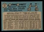 1965 O-Pee-Chee #147  Dennis Bennett  Back Thumbnail