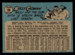 1965 O-Pee-Chee #186  Bill Cowan  Back Thumbnail