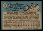 1965 O-Pee-Chee #186  Bill Cowan  Back Thumbnail