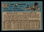 1965 O-Pee-Chee #188  Sam Bowens  Back Thumbnail
