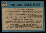 1965 O-Pee-Chee #243  Tommy Helms  Back Thumbnail