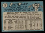1965 O-Pee-Chee #58  Fred Talbot  Back Thumbnail