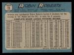 1965 O-Pee-Chee #15  Robin Roberts  Back Thumbnail