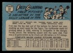 1965 O-Pee-Chee #37  Fred Gladding  Back Thumbnail