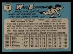 1965 O-Pee-Chee #44  Wade Blasingame  Back Thumbnail