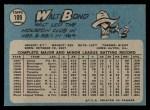 1965 O-Pee-Chee #109  Walt Bond  Back Thumbnail