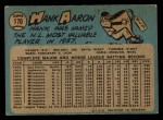 1965 O-Pee-Chee #170  Hank Aaron  Back Thumbnail
