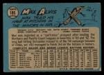1965 O-Pee-Chee #185  Max Alvis  Back Thumbnail