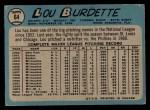 1965 O-Pee-Chee #64  Lew Burdette  Back Thumbnail