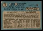 1965 O-Pee-Chee #119  John Kennedy  Back Thumbnail