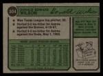1974 Topps #304  Don Wilson  Back Thumbnail