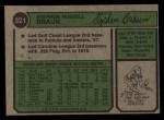 1974 Topps #321  Steve Braun  Back Thumbnail