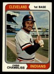 1974 Topps #384  Chris Chambliss  Front Thumbnail