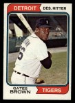 1974 Topps #389  Gates Brown  Front Thumbnail