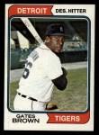 1974 Topps #389  Gates Brown  Front Thumbnail