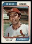 1974 Topps #393  Orlando Pena  Front Thumbnail