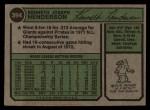 1974 Topps #394  Ken Henderson  Back Thumbnail