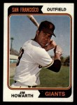 1974 Topps #404  Jim Howarth  Front Thumbnail