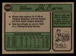 1974 Topps #409  Ike Brown  Back Thumbnail