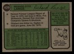 1974 Topps #429  Dick Lange  Back Thumbnail