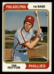 1974 Topps #443  Tom Hutton  Front Thumbnail