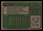 1974 Topps #461  Blue Moon Odom  Back Thumbnail