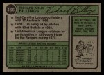 1974 Topps #466  Dick Billings  Back Thumbnail