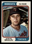 1974 Topps #321  Steve Braun  Front Thumbnail