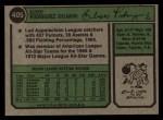 1974 Topps #405  Ellie Rodriguez  Back Thumbnail
