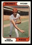 1974 Topps #410  Pedro Borbon  Front Thumbnail