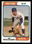 1974 Topps #424  Jim Beauchamp  Front Thumbnail