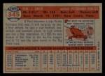 1957 Topps #345  Paul Smith  Back Thumbnail