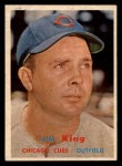 1957 Topps #186  Jim King  Front Thumbnail