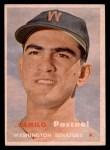1957 Topps #211  Camilo Pascual  Front Thumbnail