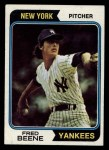 1974 Topps #274  Fred Beene  Front Thumbnail