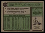 1974 Topps #275  Ron Hunt  Back Thumbnail