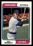 1974 Topps #295  Rick Monday  Front Thumbnail