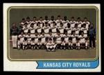 1974 Topps #343   Royals Team Front Thumbnail