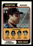 1974 Topps #403   -  Darrell Johnson / Don Bryant / Eddie Popowski / Lee Stange / Don Zimmer Red Sox Leaders   Front Thumbnail