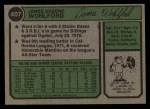 1974 Topps #407  Jim Wohlford  Back Thumbnail