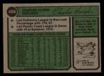 1974 Topps #408  Charlie Hough  Back Thumbnail