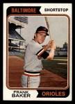 1974 Topps #411  Frank Baker  Front Thumbnail