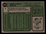 1974 Topps #427  Bobby Bolin  Back Thumbnail