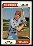 1974 Topps #443  Tom Hutton  Front Thumbnail