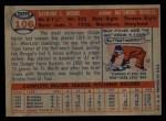 1957 Topps #106  Ray Moore  Back Thumbnail