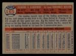 1957 Topps #165  Ted Kluszewski  Back Thumbnail