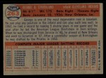 1957 Topps #263  George Strickland  Back Thumbnail