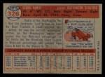 1957 Topps #326  Pedro Ramos  Back Thumbnail
