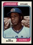 1974 Topps #161  Ray Burris  Front Thumbnail