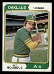 1974 Topps #141  Pat Bourque  Front Thumbnail